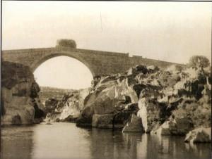 El pontón sobre el río Alagón